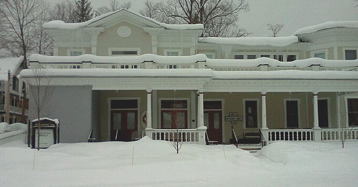 [UM House view in snow season]